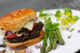 Native American black bean burger