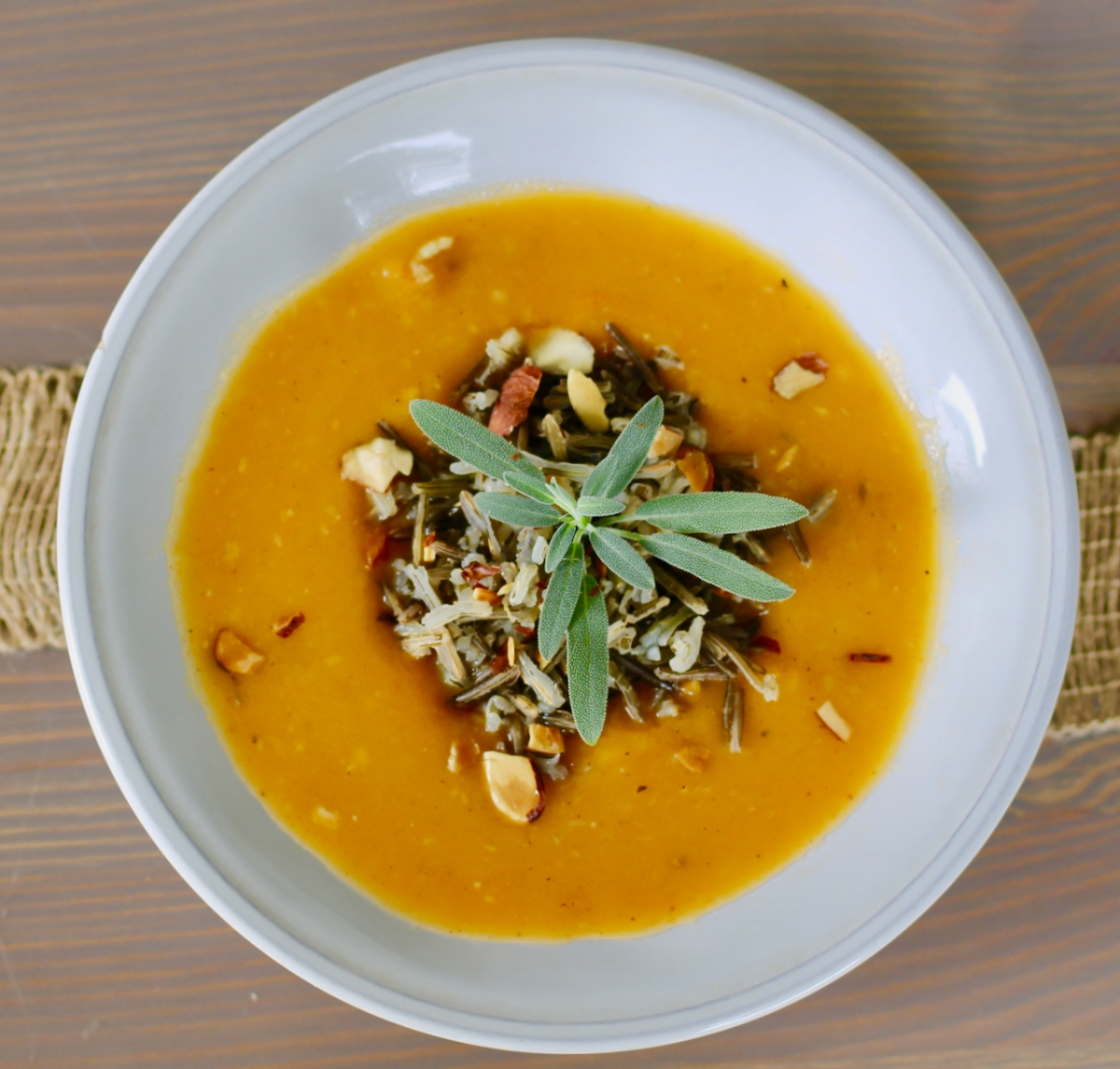 Butternut squash soup with a Midwesternflare